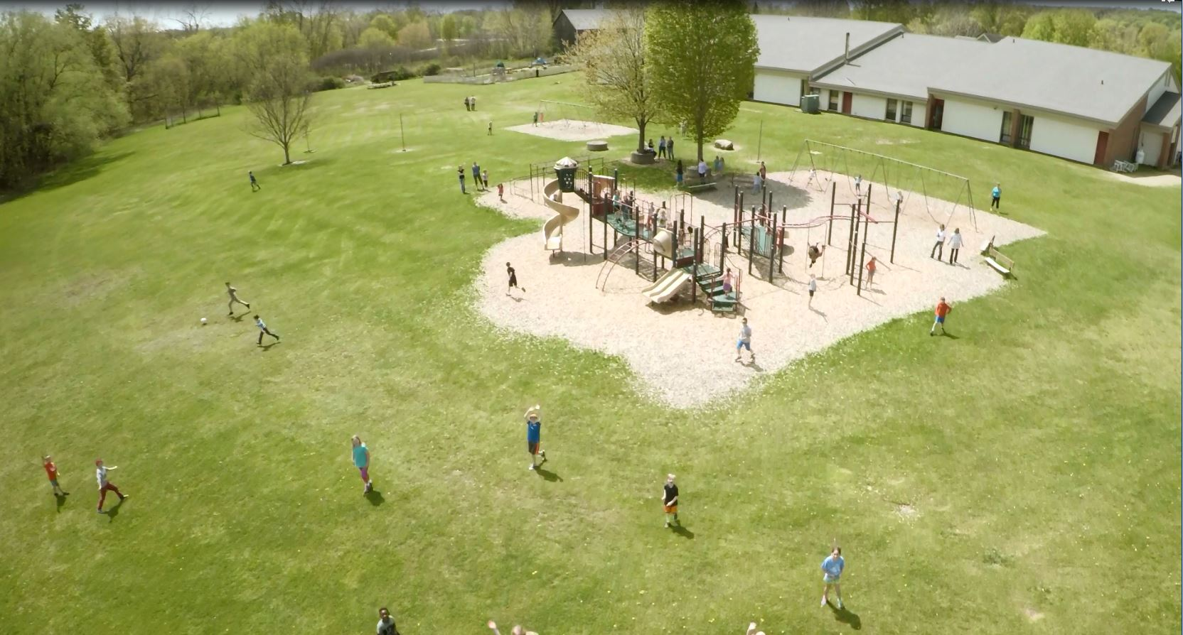 image of students on the playground